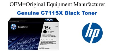 New Original HP 15X Black Toner Cartridge (C7115X)