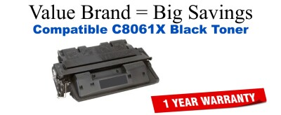 C8061,61X High Yield Black Compatible Value Brand toner