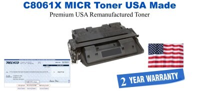 C8061,61X MICR USA Made Remanufactured toner