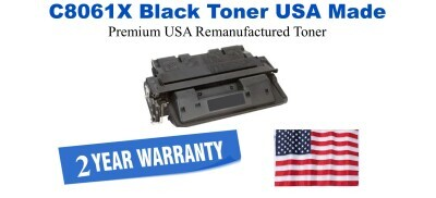 C8061X,61X High Yield Black Premium USA Made Remanufactured HP toner