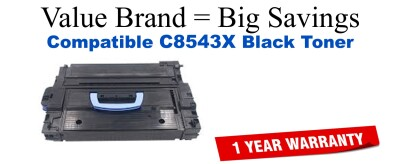 C8543X,43X High Yield Black Compatible Value Brand toner