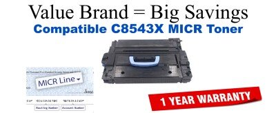 C8543X,43X MICR Compatible Value Brand toner