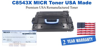 C8543X,43X MICR USA Made Remanufactured toner