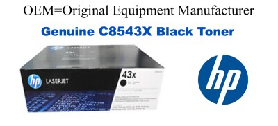 New Original HP 43X Black Toner Cartridge (C8543X)