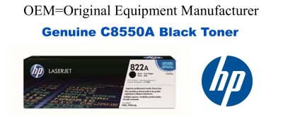 New Original HP 822A Black Toner Cartridge (C8550A)