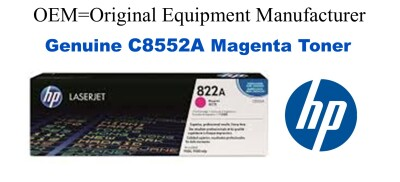 New Original HP 822A Yellow Toner Cartridge (C8552A)