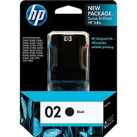 New Original HP 02 Black Ink Cartridge (c8721wn) (#02)