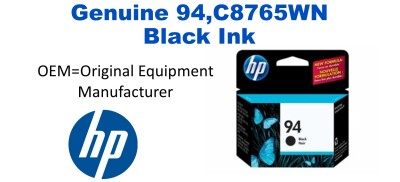 New Original HP 94 Black Ink Cartridge (C8765WN) (#94)
