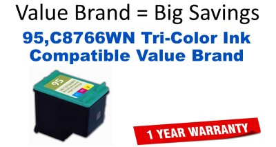 95,C8766WN Tri-Color Compatible Value Brand ink