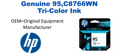 New Original HP 95 Tri-Color Ink Cartridge (C8766WN) (#95)