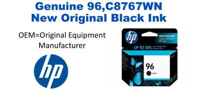 New Original HP 96 Large Black Ink Cartridge (C8767WN) (#96)