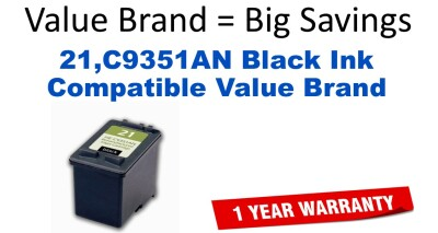 21,C9351AN Black Compatible Value Brand ink
