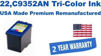 22,C9352AN Tri-Color Premium USA Made Remanufactured ink