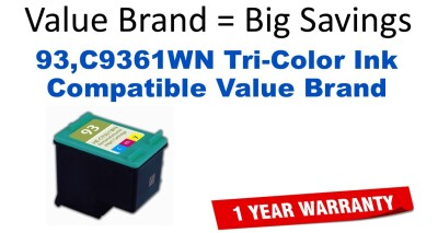 93,C9361WN Tri-Color Compatible Value Brand ink