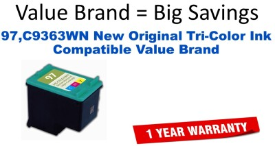 97,C9363WN New Original Tri-Color Compatible Value Brand ink