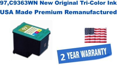 97,C9363WN New Original Tri-Color Premium USA Made Remanufactured ink