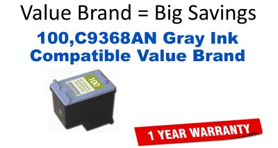 100,C9368AN Gray Compatible Value Brand ink