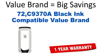 HP C9370A Black Remanufactured Ink Cartridge
