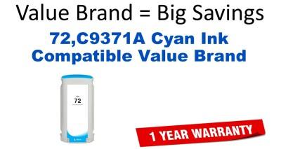 HP C9371A Cyan Remanufactured Ink Cartridge