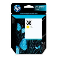 New Original HP 88 Yellow Ink Cartridge (C9388AN) (#88)