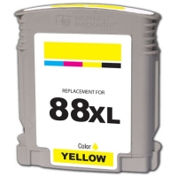 HP 88XL Yellow Remanufactured Ink Cartridge (C9393AN, C9388AN) (#88XL)