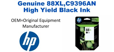 New Original HP 88XL Black Ink Cartridge (C9396AN) (#88XL)