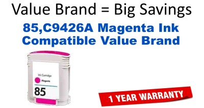 HP 85 Magenta Remanufactured Ink Cartridge (C9426A) (#85)