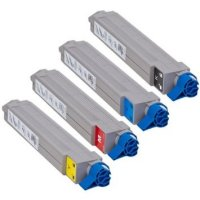 Okidata C9650 New Generic Brand 4 Color Set (K,C,M,Y) Toner Cartridge