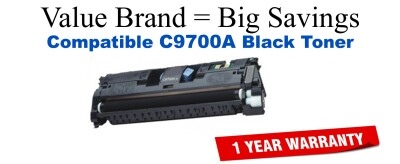 C9700A,121A Black Compatible Value Brand toner