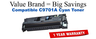 C9701A,121A Cyan Compatible Value Brand toner