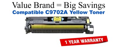 C9702A,121A Yellow Compatible Value Brand toner
