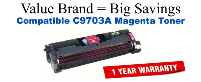 C9703A,121A Magenta Compatible Value Brand toner