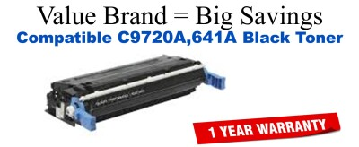 C9720A,641A Black Compatible Value Brand toner