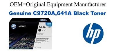 New Original HP 641A Black Toner Cartridge (C9720A)