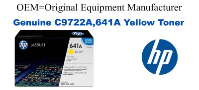 New Original HP 641A Yellow Toner Cartridge (C9722A)