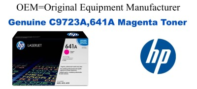 New Original HP 641A Magenta Toner Cartridge (C9723A)