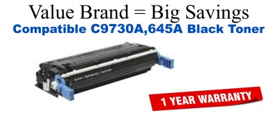C9730A,645A Black Compatible Value Brand toner
