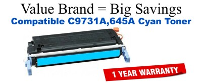 C9731A,645A Cyan Compatible Value Brand toner