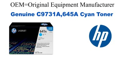 New Original HP 645A Cyan Toner Cartridge (C9731A)