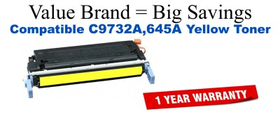 C9732A,645A Yellow Compatible Value Brand toner