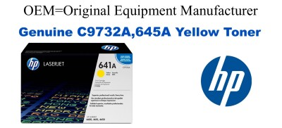 New Original HP 645A Yellow Toner Cartridge (C9732A)
