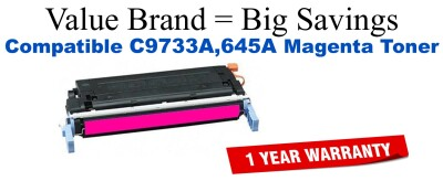 C9733,645A Magenta Compatible Value Brand toner