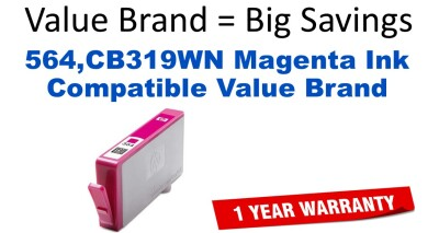 HP 564 Magenta Remanufactured Ink Cartridge (CB319WN) (#564)