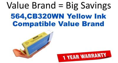 HP 564 Yellow Remanufactured Ink Cartridge (CB320WN) (#564)