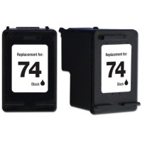 HP 74 Black Remanufactured Ink Cartridge (CB335WN) (#74)