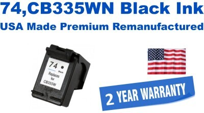 74,CB335WN Black Premium USA Made Remanufactured ink