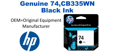 74,CB335WN Genuine Black HP Ink