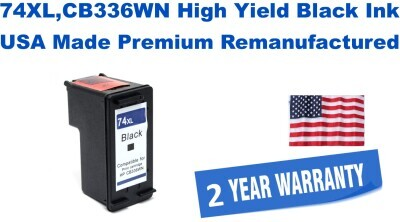 74XL,CB336WN High Yield Black Premium USA Made Remanufactured ink