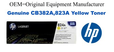 CB382A,823A Genuine Yellow HP Toner