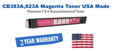 CB383A,823A Magenta Premium USA Made Remanufactured HP toner